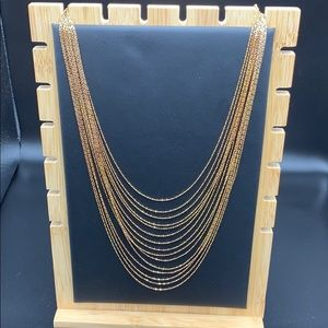 Gorgeous New Gold over Silver necklace $170